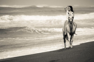 Beach Horse Riding Asian Ultimate Beauty